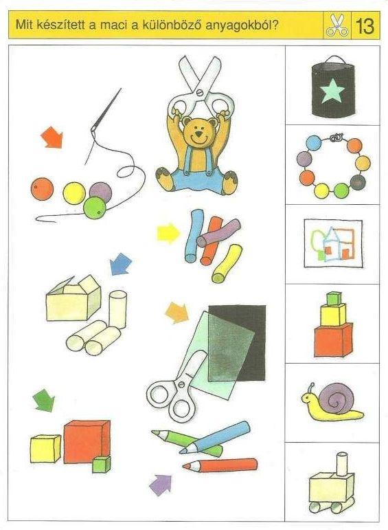 Piccolo: schaar kaart 13 | Preschool activities, Visual ...