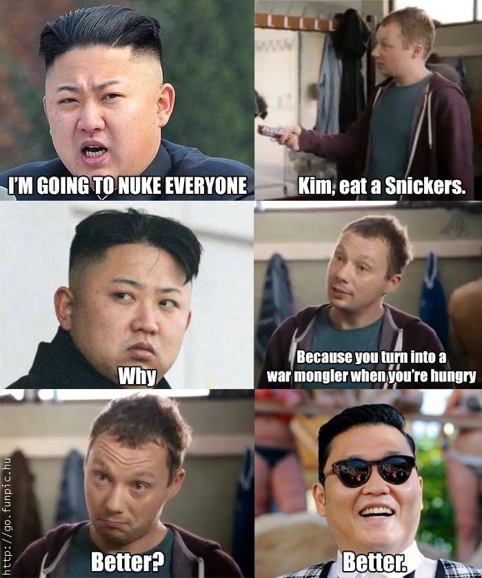 Snickers ve Kim Jong Un