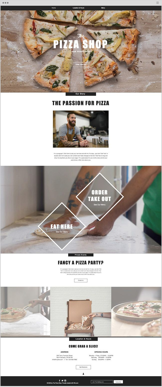 Best 25 restaurant website templates ideas on pinterest pronofoot35fo Images