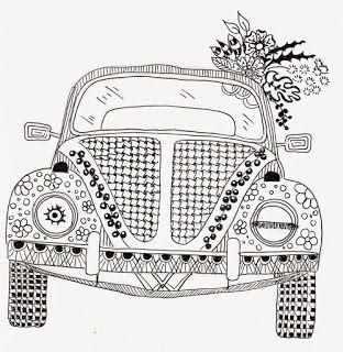 VW Beetle ~ Learn, Create and Teach: COLOR ADULT                                                                                                                                                                                 Mais