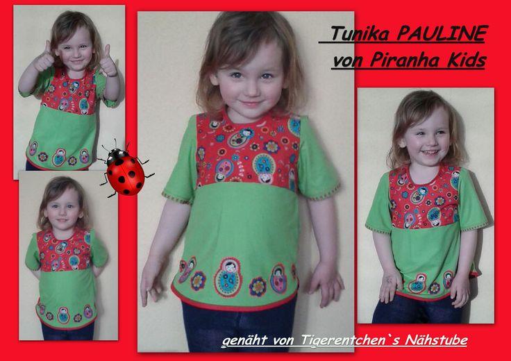 Ich durfte für die liebe Sylvia von Piranha Kids Probe nähen. Dabei ist die Tunika Pauline entstanden.