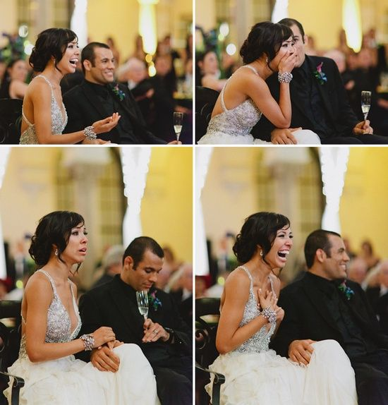 He had their proposal secretly taped and had it shown at their wedding... So adorable