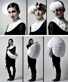 Origami clothing- transforming into a totally different shape.