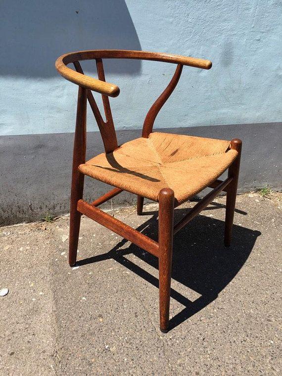 1950s Rare Original Danish Ch24 Wishbone Chair By Hans J Wegner
