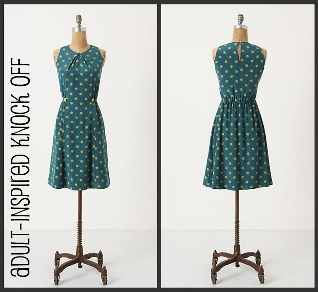 anthropologie dress knock off tutorial