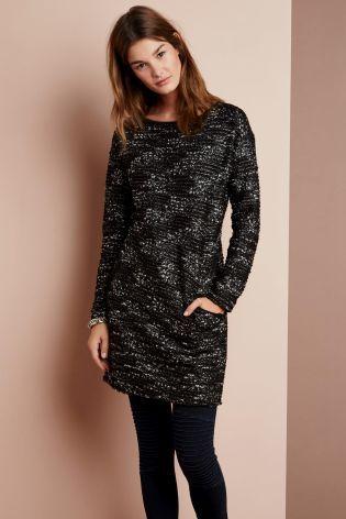 Buy Black Bouclé Dress from the Next UK online shop