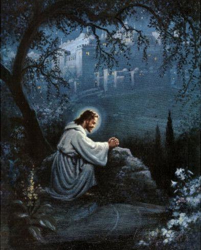 Jesus (Agony in the Garden) Art Poster Print