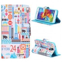 Forro Libro Samsung Galaxy S5 Design Lugares New York 1 $ 20.300,00