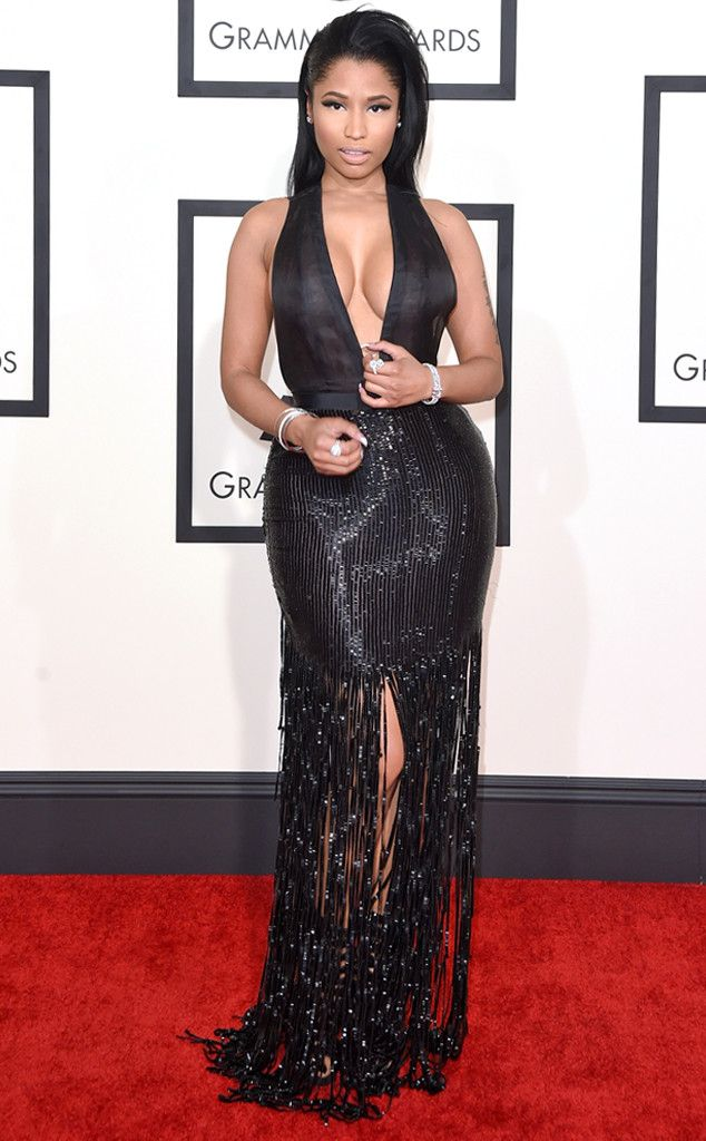 Nicki Minaj from 2015 Grammys: Red Carpet Arrivals  In Tom Ford #2015grammys #redcarpet #nickiminaj