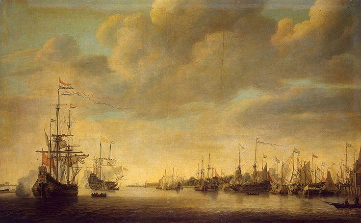 Simon de Vlieger (Dutch,c.1601-1663) - Arrival Of William of Orange in Rotterdam, 1642