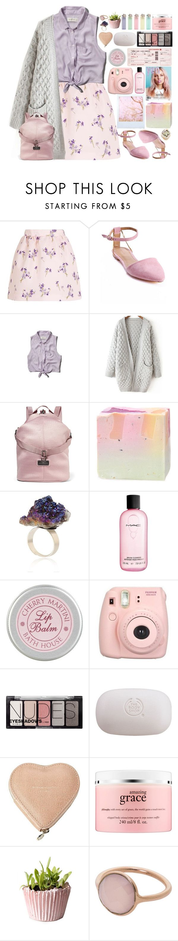 """Lavender"" by doga1 ❤ liked on Polyvore featuring RED Valentino, Sergio Bari, Abercrombie & Fitch, adidas, MAC Cosmetics, The Unbranded Brand, H&M, The Body Shop, Aspinal of London and philosophy"