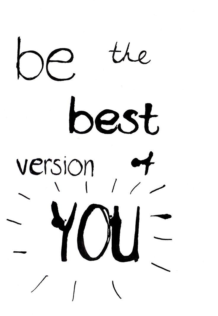 Poster Be the best version of you. Te bestellen in A4 en A3 formaat. http://www.decoboom.nl/producten/muurdecoratie/posters-en-kaarten