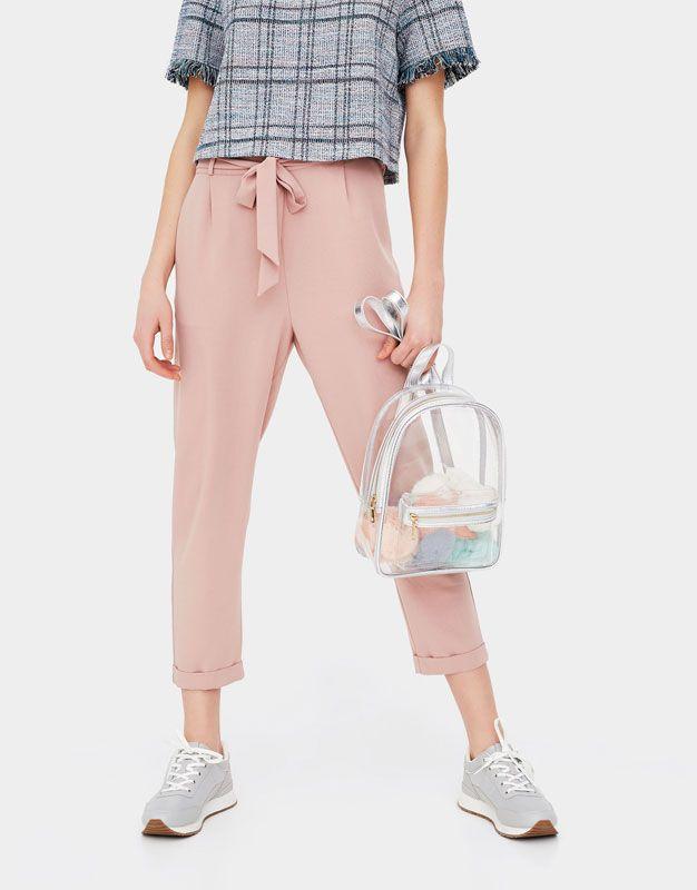 9de03912dccbb Mini vinyl backpack - See all - Accessories - Woman - PULL&BEAR Spain