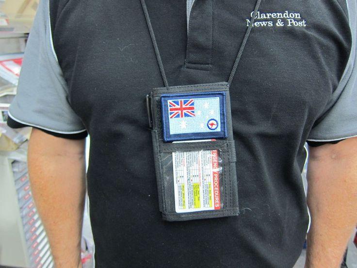Military ID Holder / Notebook Holder BLACK