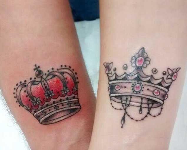 Boys and girls crown tattoo