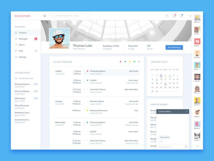 Student Profile UI Design – User interface by Živilė Žičkutė