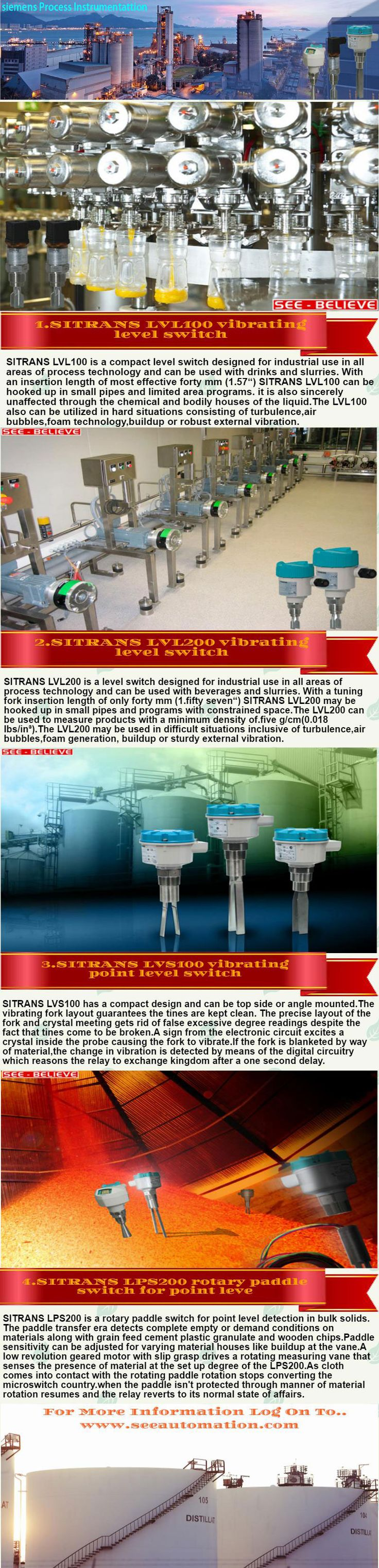 """SITRANS LVL200 is a level switch designed for industrial use in all areas of process technology and can be used with drinks and slurries.With a tuning fork insertion duration of best 40 mm (1.57"""").SITRANS LVL200 may be installed in small pipes and applications with limited space."""