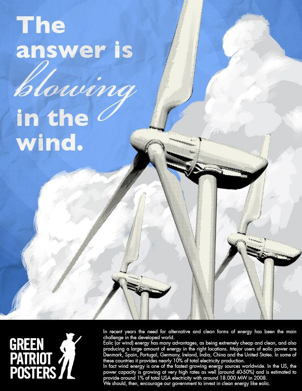 """Blowing in the Wind by Flavio Dechen. """"As the search for alternative sources of energy grows all over the world, I believe we must pay attention to this thing that the world has plenty of: the wind, and invest on eolic energy."""""""