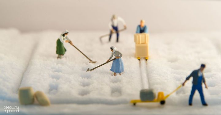Miniature People Playfully Live and Work Among Their Giant Human Counterparts - My Modern Met