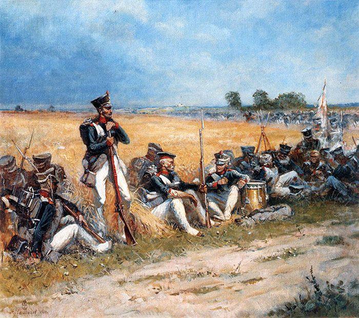 On the field of Borodino Alexander CHAGADAEV  (2-4 September 1812 )