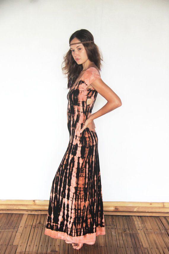 "Short sleeve ""LASYA"" body concious gypsy maxi dress, with cross back detail, bohemian goddess"