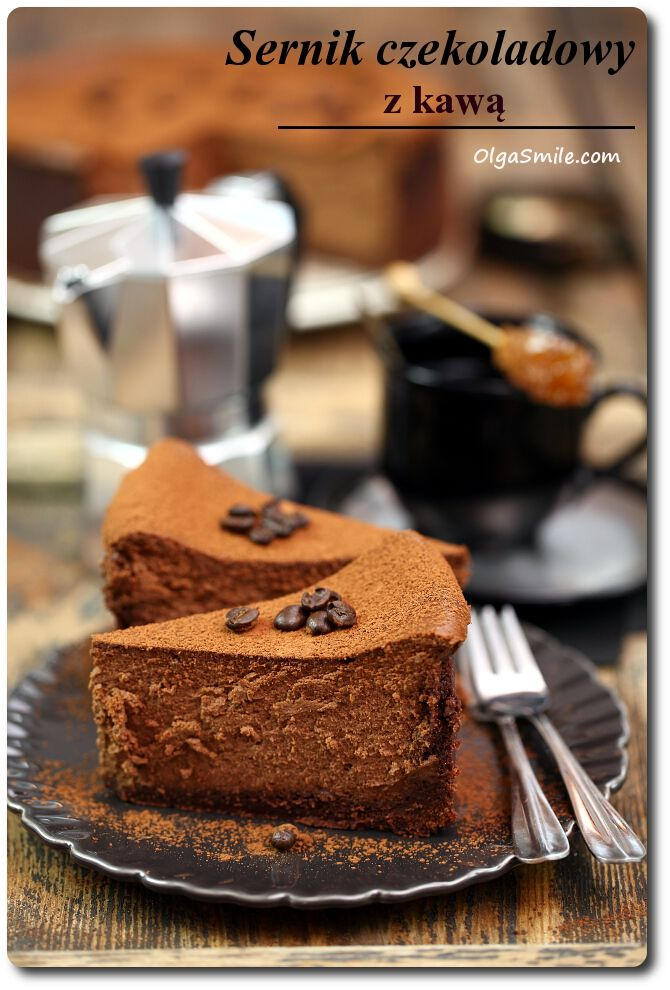 Sernik czekoladowy z kawą