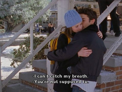 Gilmore Girls quotes. Jess and Rory in love! Sweet quote! Love Jess and Rory together! Milo Ventimiglia.