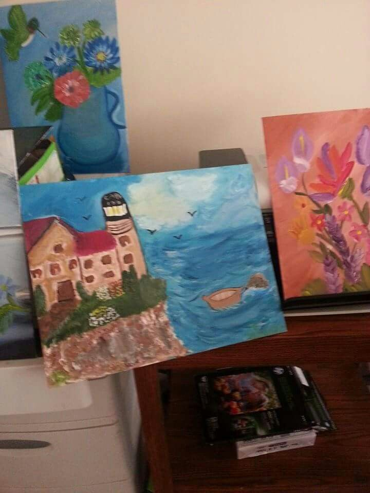 More oil & acrylic paintings