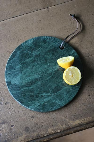 Round Green Marble Chopping Board Discoverattic