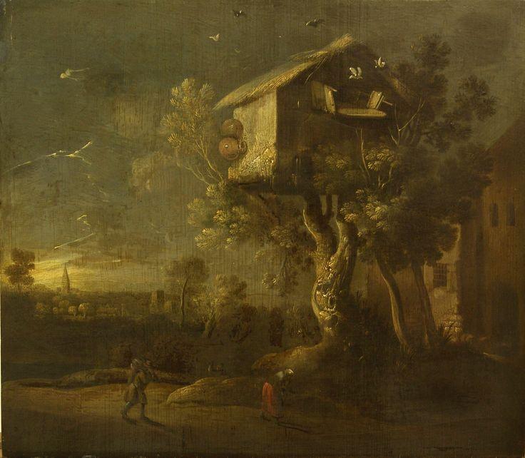 Charles de Hoogh - Duiventil - voor behandeling - Restauratieatelier Haarlem