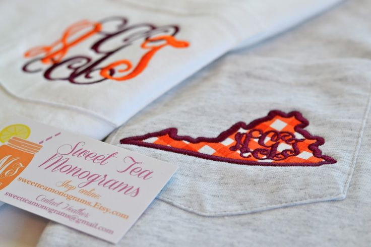 Hokie Monogram Shirts from Sweet Tea Monograms