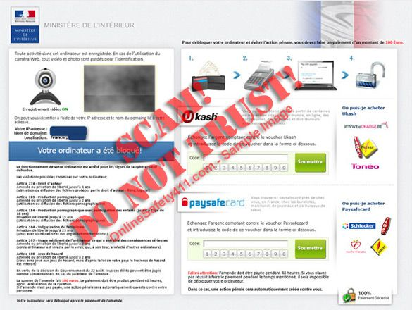 How to Remove France Ministere de l'Interieur Virus Ransomware Threat Message http://www.onlinesafety411.com/remove-france-ministere-de-linterieur-virus-ransomware-threat-message