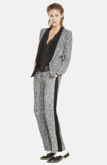 sandro 'Paris' Tuxedo Stripe Tweed Knit Pants available at ...
