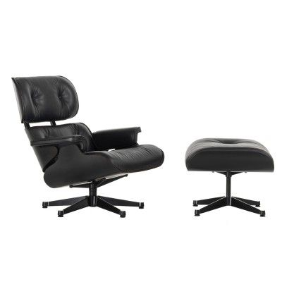 Eames lounge chair & ottoman - All black