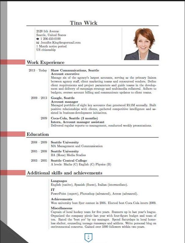 latest cv layout examples