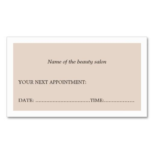 Best Business Cards Appointment Images On   Business