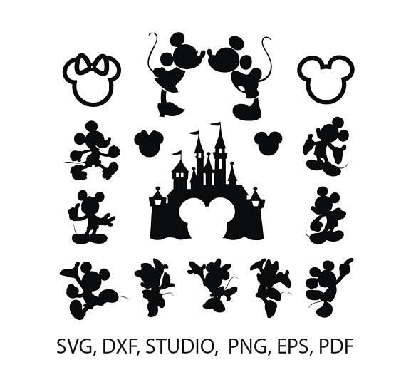 Mickey Mouse Svg Silhouette Pack Mickey And Minnie Mouse Disney Svg Vector Clip Art Mickey Cli Minnie Mouse Silhouette Clip Art Mickey