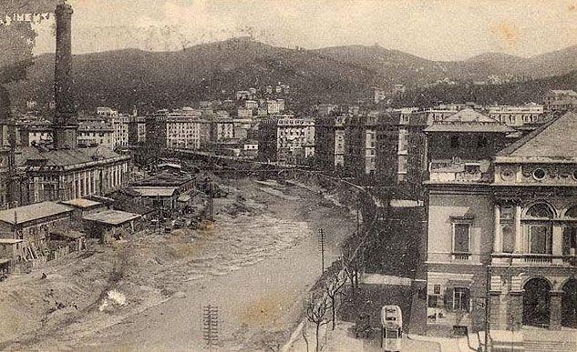 GENOVA - Corso Galliera - FOTO STORICHE CARTOLINE ANTICHE E RICORDI DELLA LIGURIA