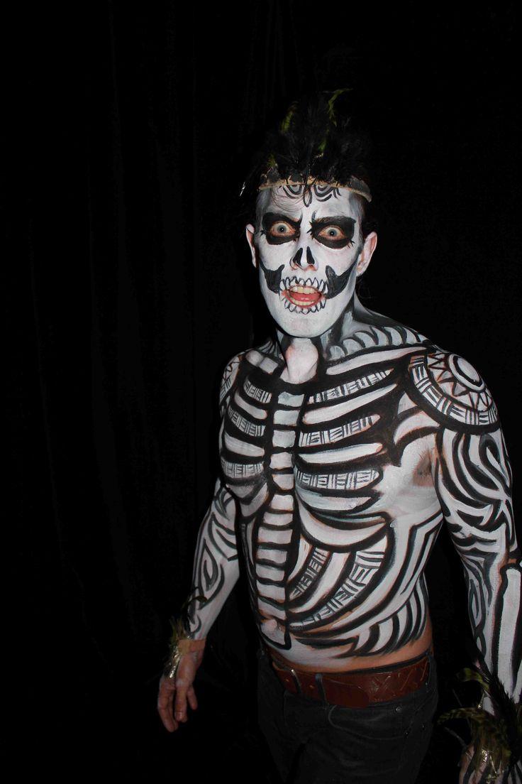 Karin Hasse voodoo theme body painting   Halloween face ...