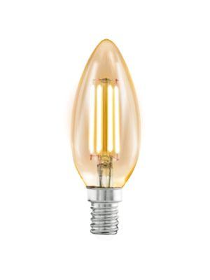 Bombilla LED Vela Filamento Carbono E14 4,5W Luz cálida