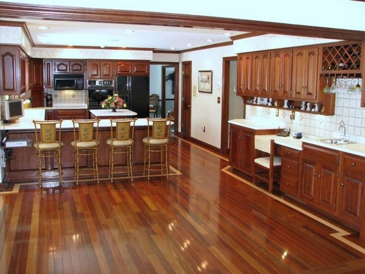 ... Engineered Wood Flooring In Kitchen