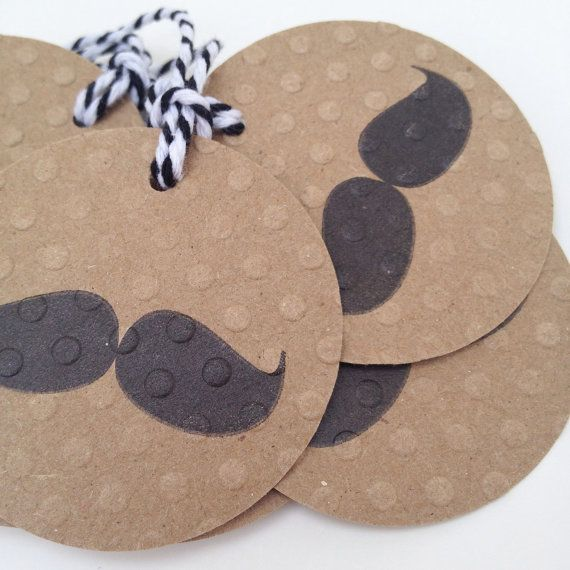 Hand Stamped Black Moustache on Polka Dot by madeiracrafts on Etsy, $5.00