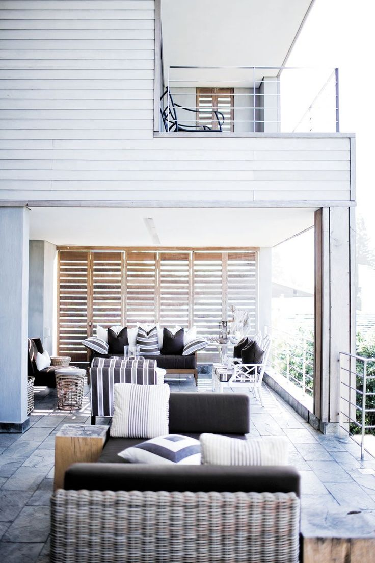 House And Home, Decorating Ideas, Beach Patio. I Love Indoor/outdoor Living