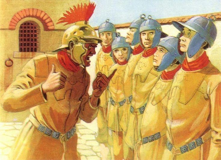 Легионеры в казармах носили желтые кожаные куртки для того, чтобы меньше пачкаться во время тяжелой солдатской жизни
