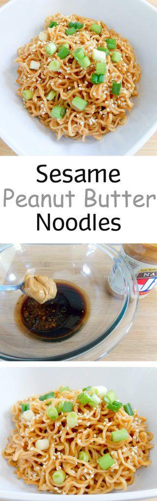 Nudeln auf die Schnelle und trotzdem gesund und lecker *** Sesame Peanut Butter Noodles