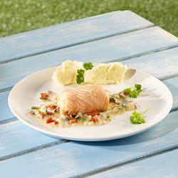 Visvinkjes met kleurrijke groenten en kruidenkaas - Colruyt Culinair