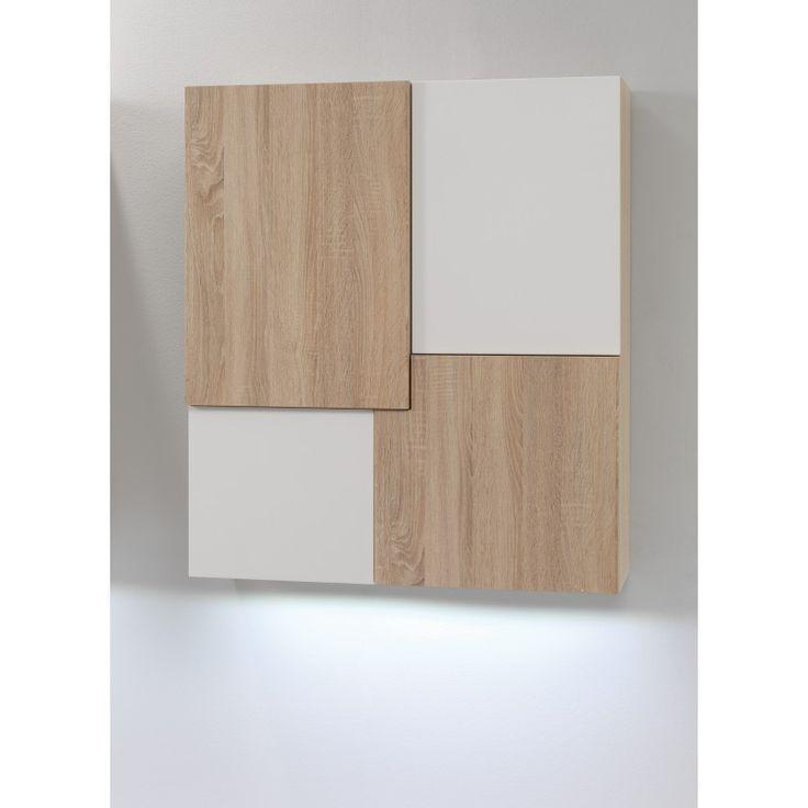 Oslo hangkast, wit / eiken | New Style Design-woonwinkel