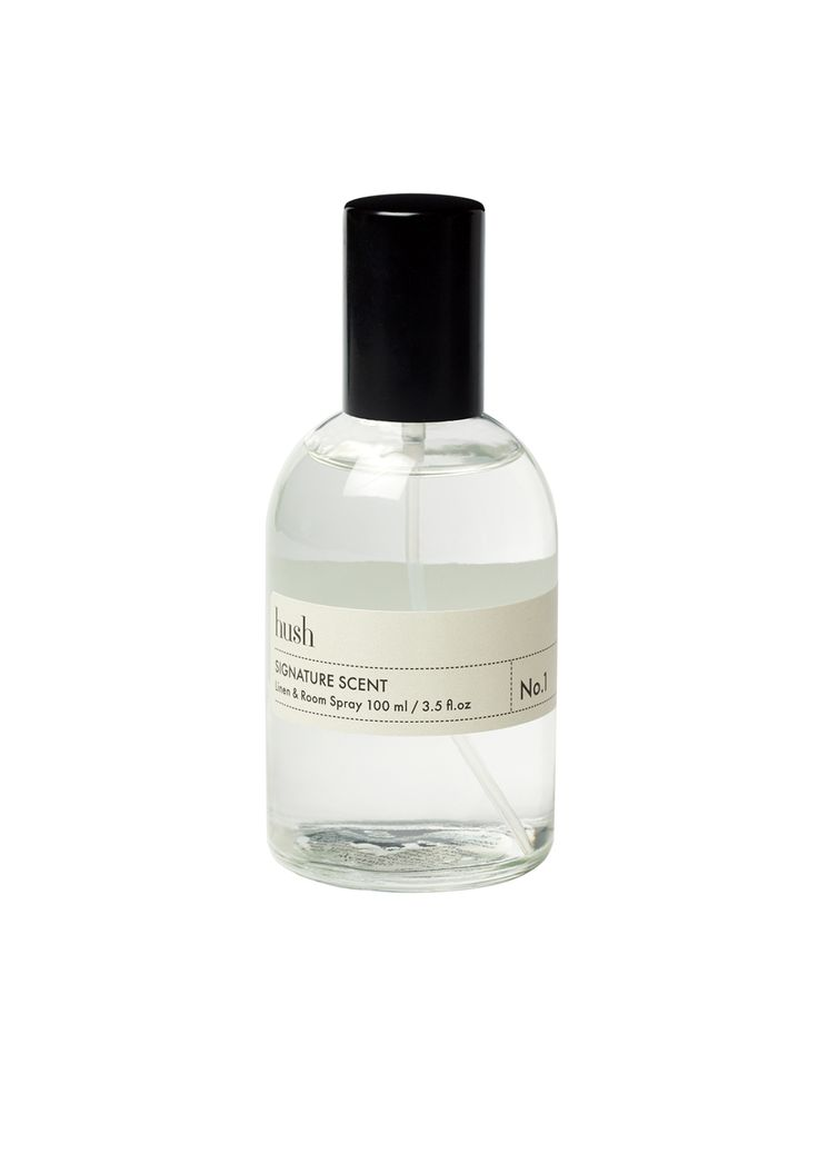 Hush Linen amp Room Spray Minimal Design Bottle Packaging