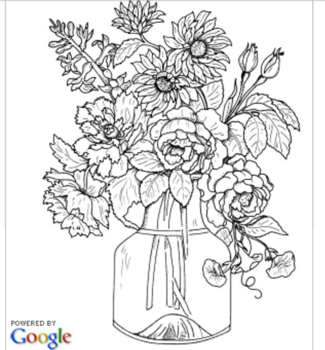 Freebie Floral Coloring Page Colored pencils, Coloring books and - copy coloring pictures of flowers and trees