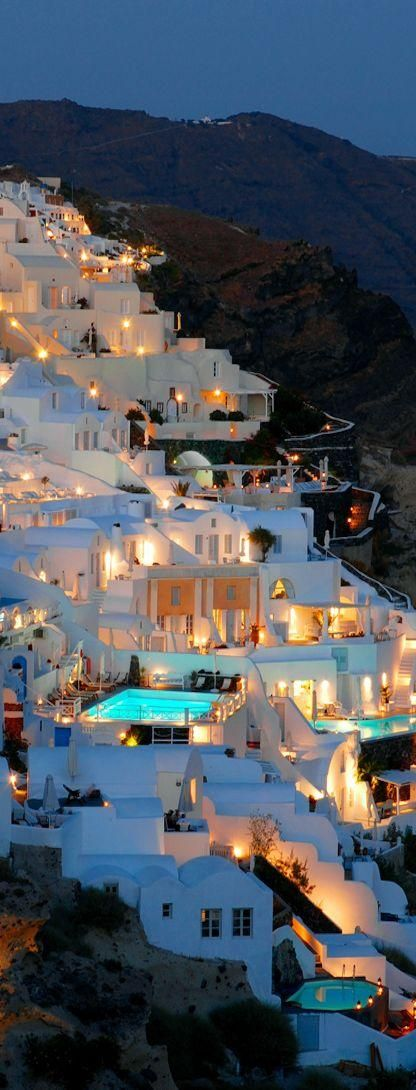 Magical night in Santorini - One of my favorite places in the world!